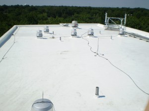 commercial roof washing